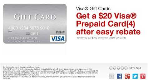 can you make purchases with a visa gift card staples 20 visa rebate with purchase of 300 visa gift