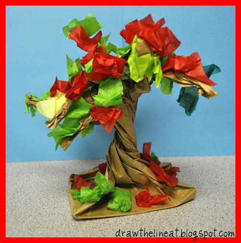 paper bag tree craft tree activities for