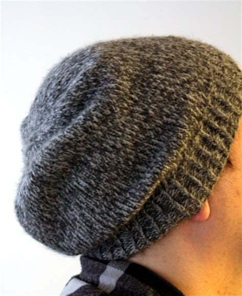 how to knit a slouchy hat easy slouchy unisex beanie think crafts by createforless