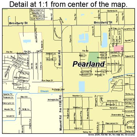 pearland tx pearland map 4856348