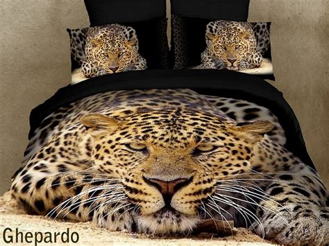 cheetah bed set ghepardo leopard print comforter set