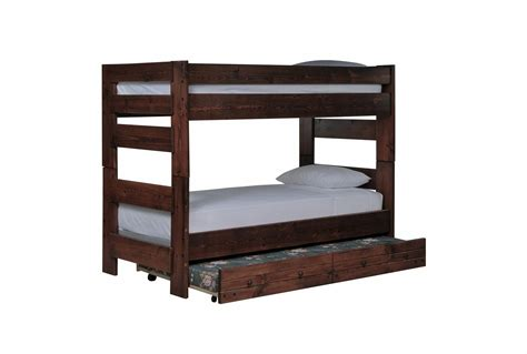 bunk beds living spaces sedona bunk bed w trundle mattress living spaces
