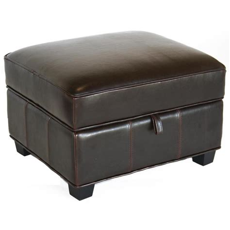 storage leather ottoman wholesale interiors bicast leather storage ottoman black a