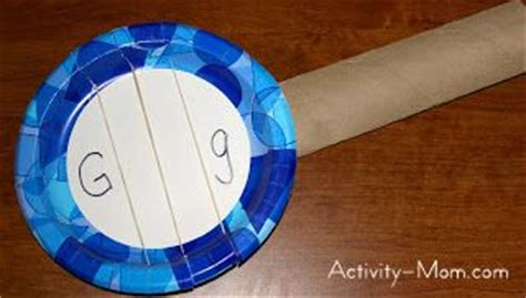 paper guitar craft the activity paper plate craft g is for guitar