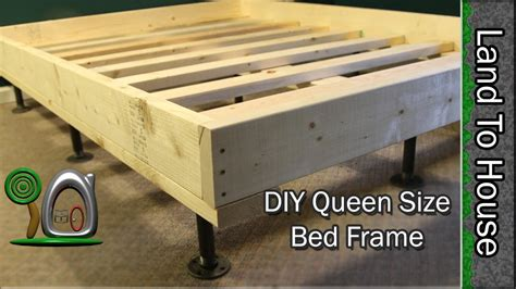 diy bed frame size bed frame diy