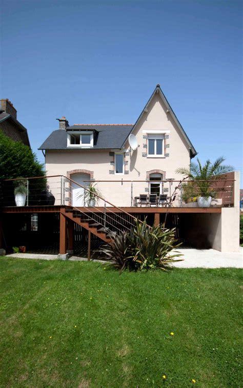 terrasse maison individuelle am 233 nagement ext 233 rieur la h 233 nonnaise 22