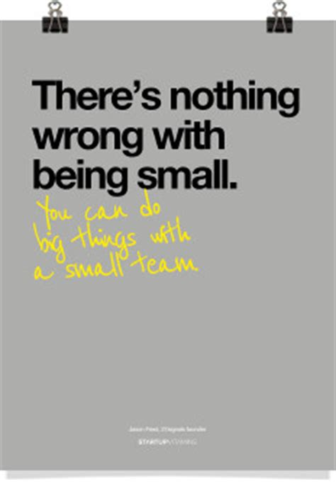 Stickers For Walls Quotes poster quot there s nothing wrong with being small quot startup