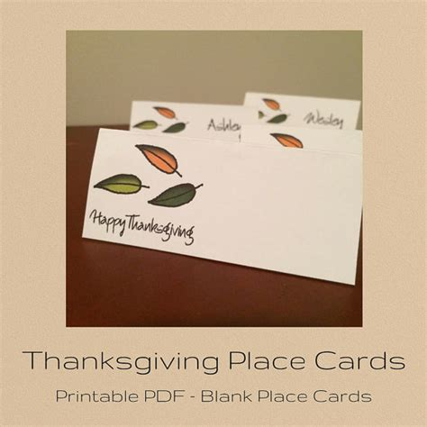 thanksgiving place cards for to make happy thanksgiving place cards printable place by emilymmmshop