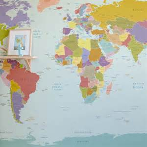 World Wall Map Mural world map wallpaper mural for kids room