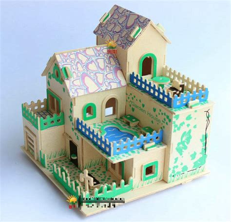 building crafts for creative 3d wood puzzles diy craft house model house