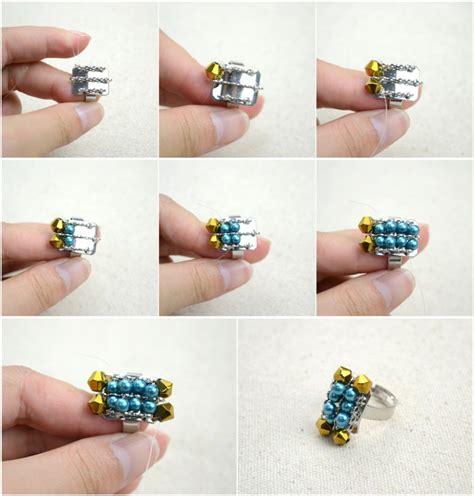 how to make beaded rings how to make handmade jewellery n fashion