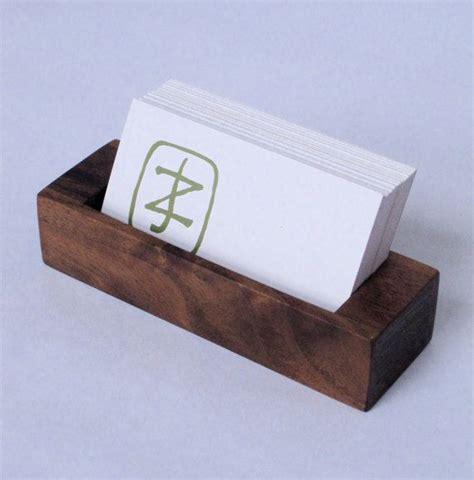 how to make a wood card holder walnut business card holder