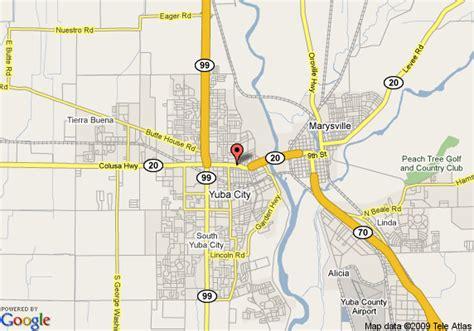 yuba city map of knights inn yuba city yuba city