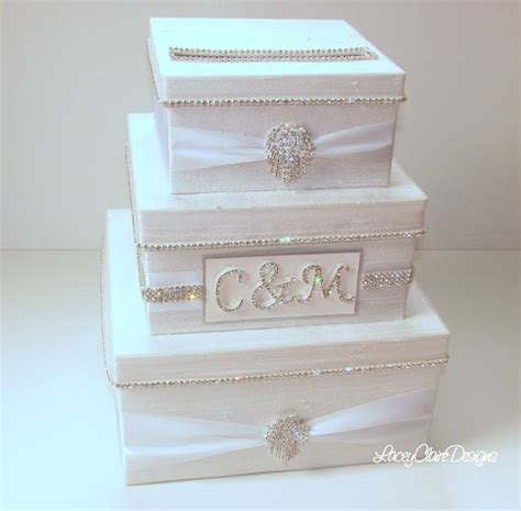 how to make gift card boxes for weddings wedding card box bling card box rhinestone money holder