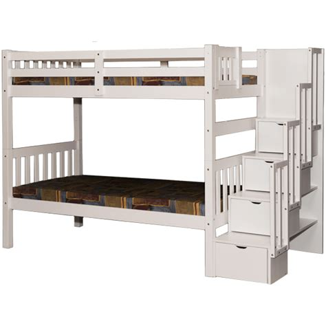 bunk bed canada white bunk bed stairway storage beds stairs