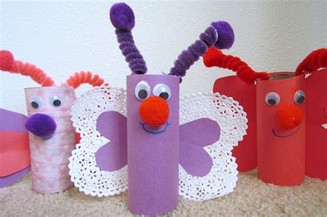 crafts toilet paper learn to grow how to make a butterfly from toilet paper