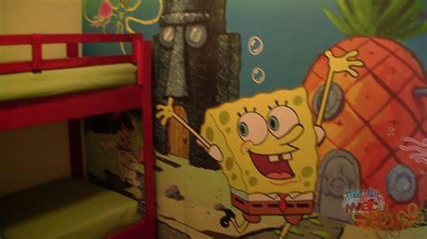 2 Bedroom Suites In Orlando Fl nick hotel spongebob squarepants family suite room tour in