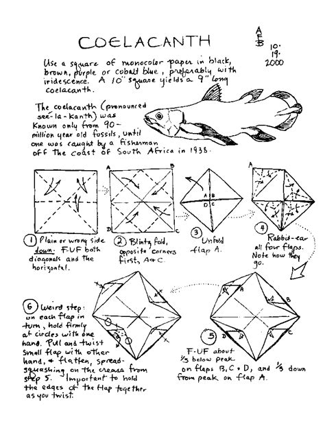 origami koi fish diagram origami fish and sea creatures