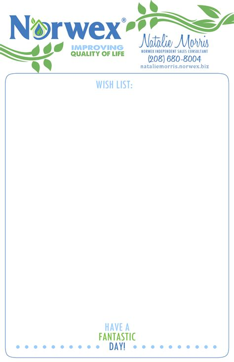 absolute appeal design norwex business stationery set