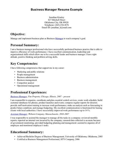 12 business resume examples recentresumes com