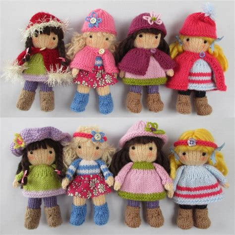 knit doll belles small knitted dolls knitting pattern by