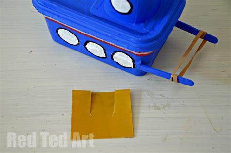 kid craft boats margarine tub tug boat craft ted s