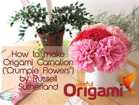 origami carnation how to make tissue paper flowers origami carnations