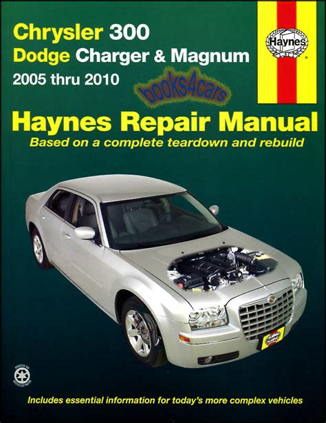 service manual what is the best auto repair manual 2007 suzuki reno auto manual back cover shop service repair manual haynes book chrysler 300 dodge magnum chilton guide c ebay