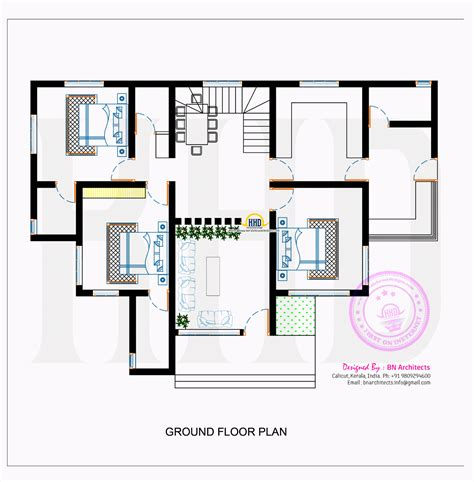 modern contemporary floor plans contemporary house with floor plan by bn architects kerala home design and floor plans