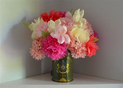 tissue paper flower craft ideas remodelaholic decor ideas from