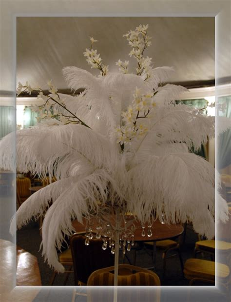 feather table centerpieces my beautiful wedding table centerpieces