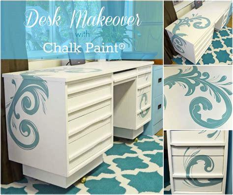chalk paint desk painted desk with chalk paint 174 just paint it
