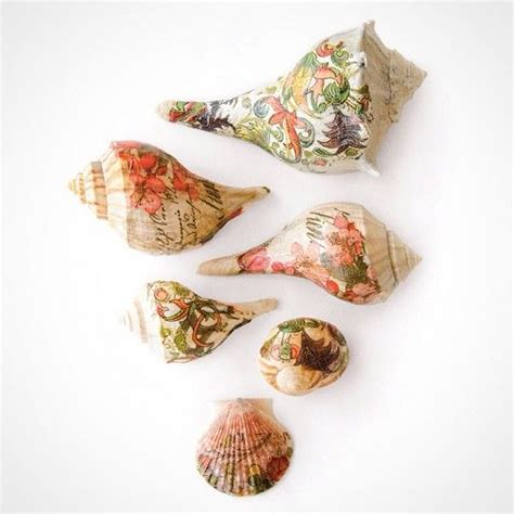 decoupage artists 1000 ideas about seashell decorations on