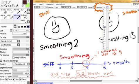 paint tool sai smooth lineart tutorial lineart setting smoothing stabilizer by temiji on deviantart