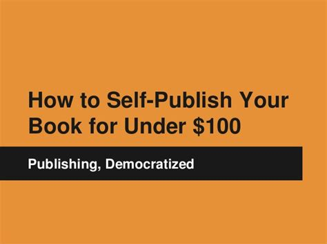 how to self publish a picture book how to self publish your book for 100