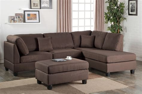 reversible chaise sectional sofa chocolate fabric reversible chaise sectional sofa ottoman