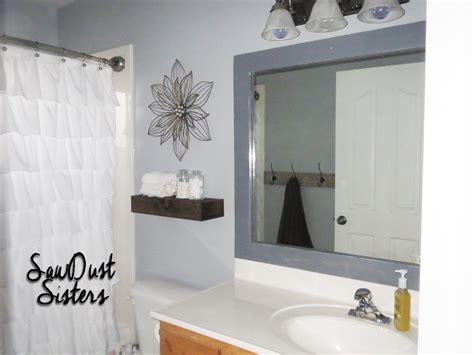 how to frame bathroom mirrors diy bathroom mirror frame sawdust