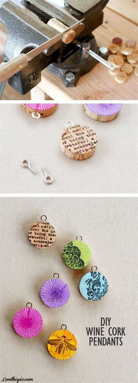 great crafts for diy cork pendants make your own jewelry from