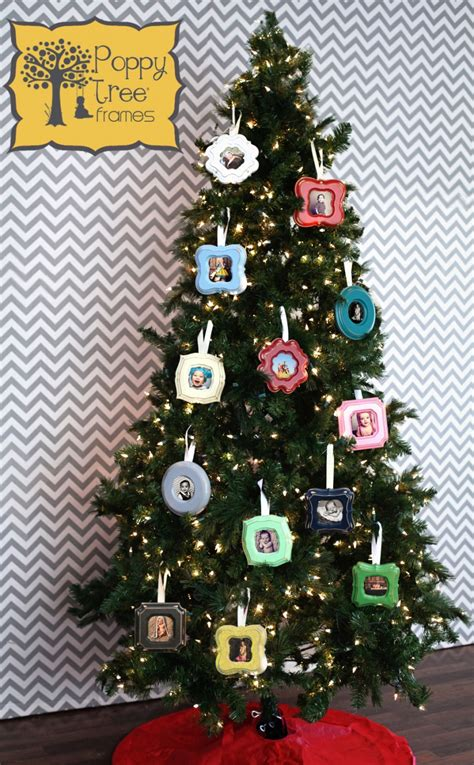 photo frame ornaments for tree ornament frames poppy tree frames