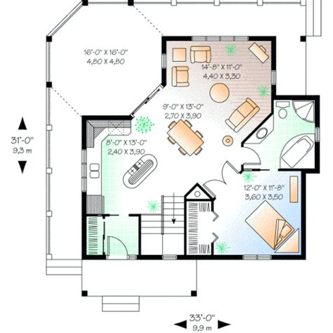 one bedroom house plans with photos style house plans 840 square foot home 1 story