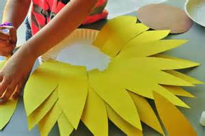sunflower paper plate craft sunflower craft