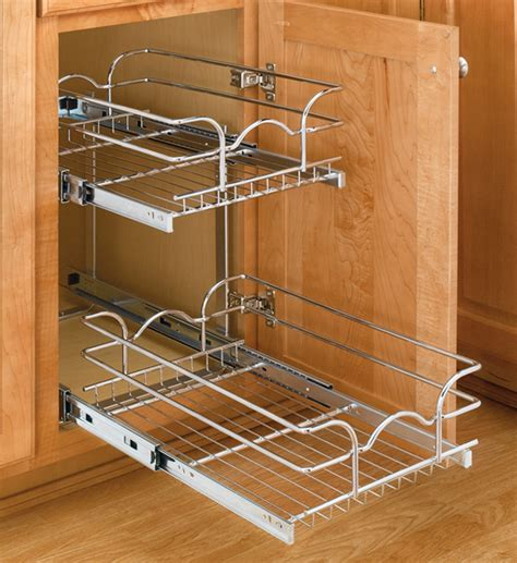 pull out kitchen cabinet organizers two tier cabinet organizer small in pull out