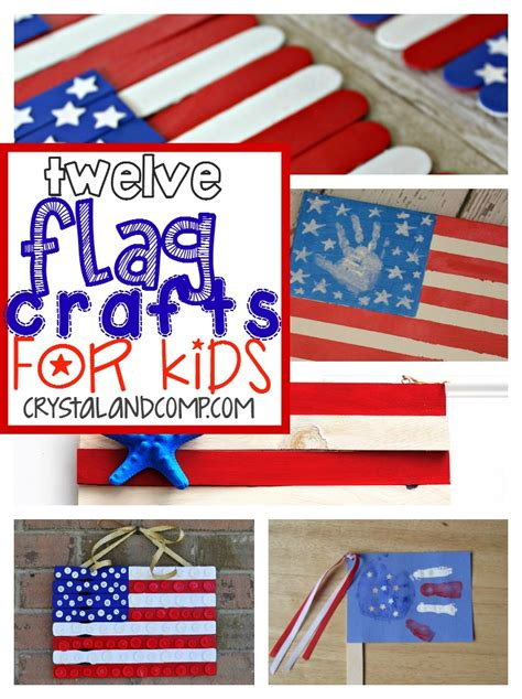 flag crafts for our mini linky week 22 our mini family