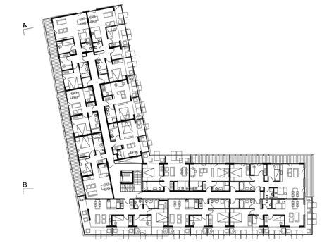 l shaped apartment floor plans hayrack apartments by ofis arhitekti