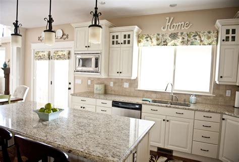 colors for kitchen with white cabinets the granite color with the white cabinets