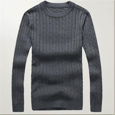 mens knit pullover mens knit sweater 2015 new o neck casual pullover