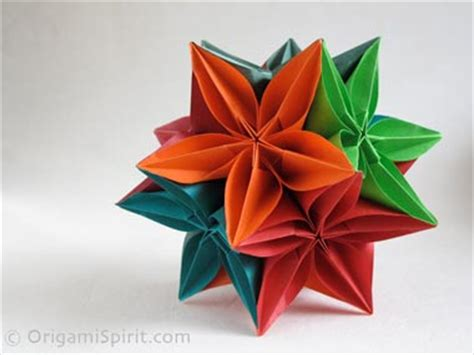 origami flower carambola kusudama with the carambola flower modular origami
