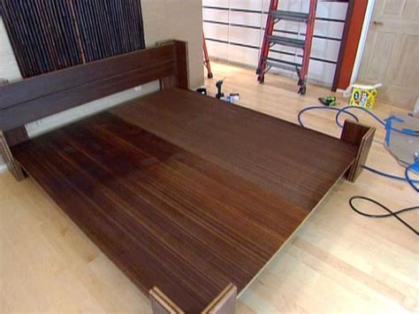 build bed how to build a bamboo platform bed hgtv