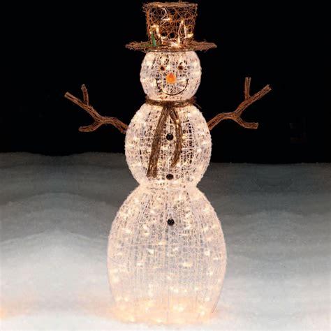 outdoor light up snowman trim a home 174 50 lighted snowman outdoor