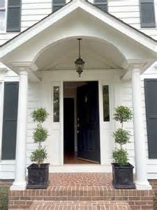 front porches on colonial homes our colonial home the before tour walkways entryway